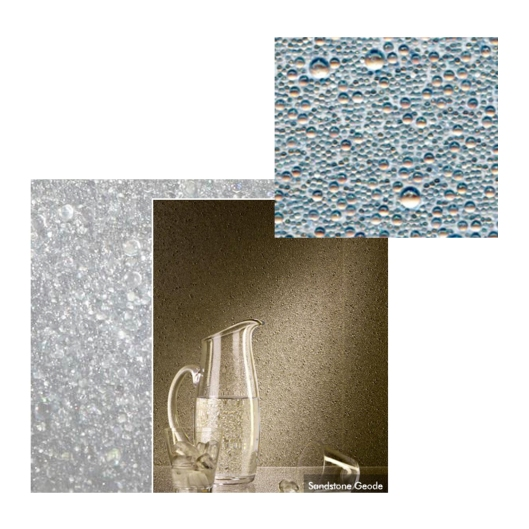 """""""Bedazzled Sparkle Geode Glass Beads"""" wallcovering by Maya Romanoff"""