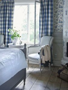 gingham traditional interior