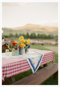 gingham picnic tablecloth