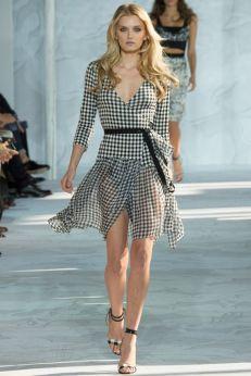 DVF gingham fashion
