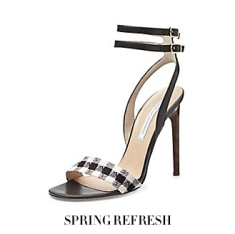 DVF shoes gingham