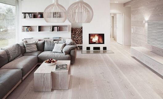 light hardwood floor living room